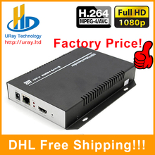 DHL Free Shipping HDMI to IP HLS TV Digital Video H.264 IPTV streaming server RTMP IPTV HDMI Encoder H.264