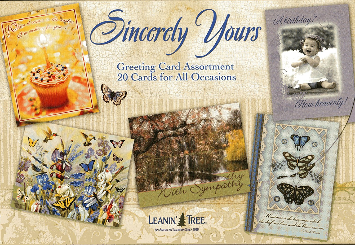 Buy Leanin39 Tree Variety Greeting Cards Sincerely Yours 20