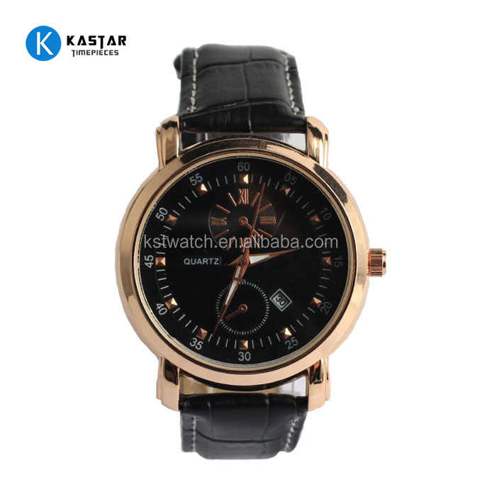 Stainless steel fashion lady thin strap Genuine leather business watches men women