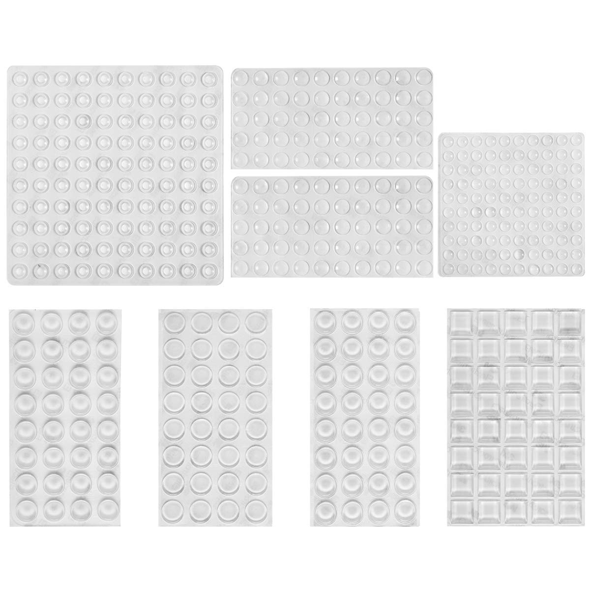 PAMASE 436 PCS Cabinet Bumpers Clear Door Drawer Clear Rubber Feet Pads, Self Adhesive Plastic Sound Dampening Rubber Bumpers Protector for Furniture