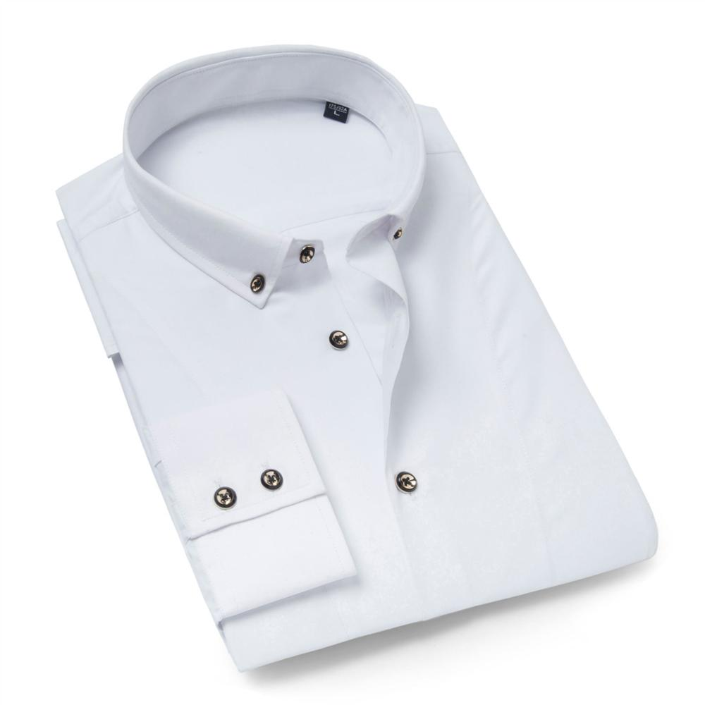 Shirt design for man 2016 -  Male Waistband Ceinture Hot New Products For 2016 Formal Wear 100 Cotton Long Sleeve Turndown Collar Slim Fit