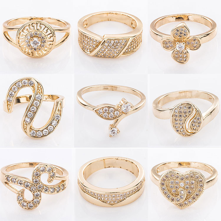 dubai simple latest gold ring designs for girl and woman View