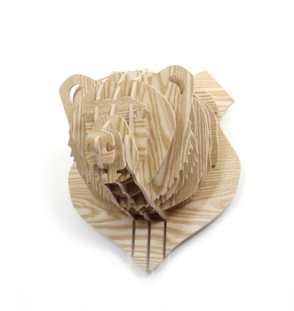 3d Wood Puzzle Wooden Diy Model Wall Hanging Animal Wildlife Head Sculpture Buy Wooden Head Sculpturebull Head Sculpturelarge Animal Sculptures