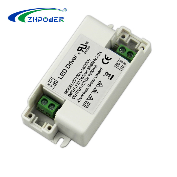 UL CE RoHS approval DC 12V 1A led driver 12W with constant voltage