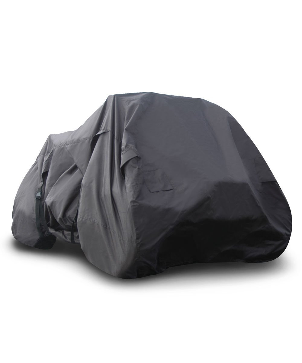 """Budge Sportsman Large ATV Cover Trailerable Fits ATVs up to 6' 3"""" Long, ATV-14 (Black, Waterproof)"""