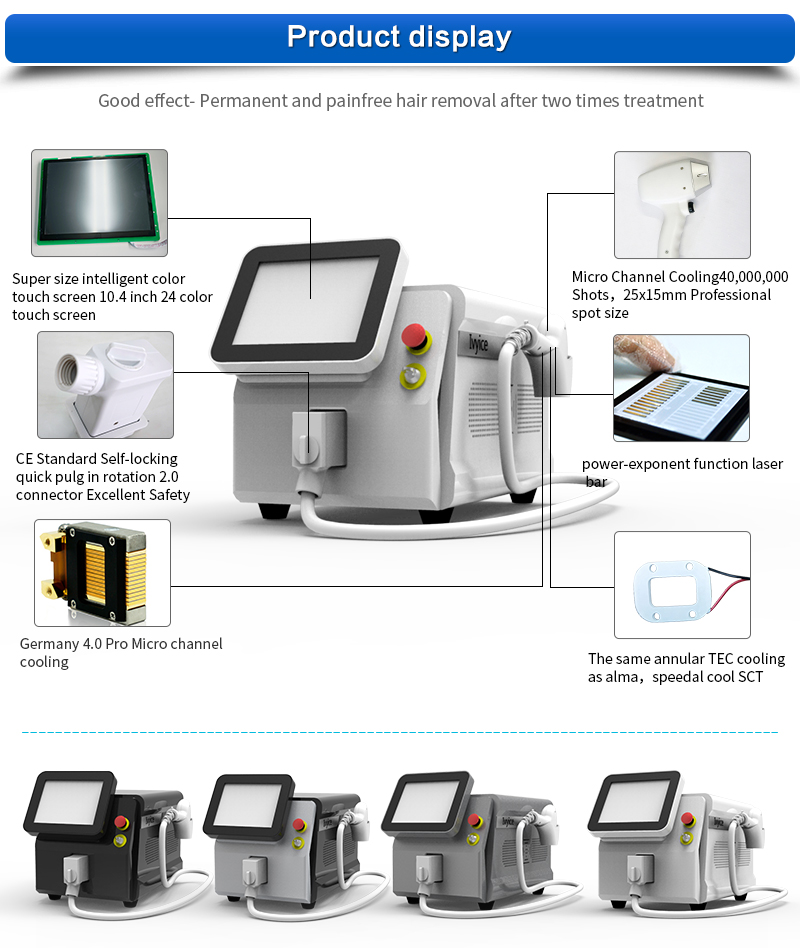 Oriental laser Portable 808nm laser diode price/alexandrite diode laser hair removal/808nm diode laser hair removal machine