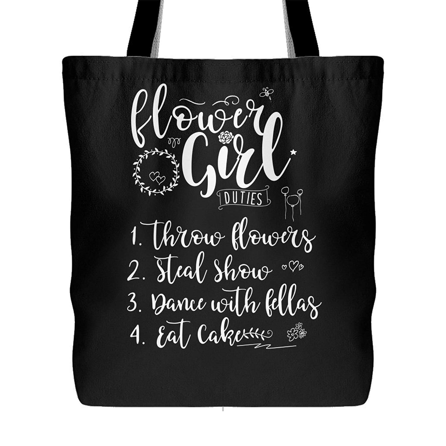 Cheap flower girl gift bag find flower girl gift bag deals on line flower girl duties canvas tote bag flower girls reception shoulder bag wedding gift for izmirmasajfo