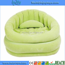 Fashion Inflatable Flocked Fabric Lounge Seat Dorm Sofa
