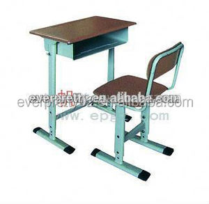Wooden Adjustable Old Fashional School Desk and Chair for Sale
