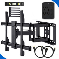 "TV Wall Mount for 23""-55"" TVs - Wall Mount TV Bracket with Swivel & Extends 16"" TV Mount fits LED, LCD, OLED Flat Screen TVs"
