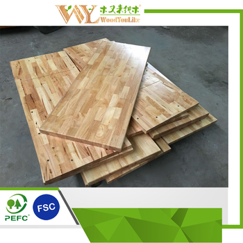 Lacquered Cheap Wood Table Top , Rubber Wood Worktop Countertop