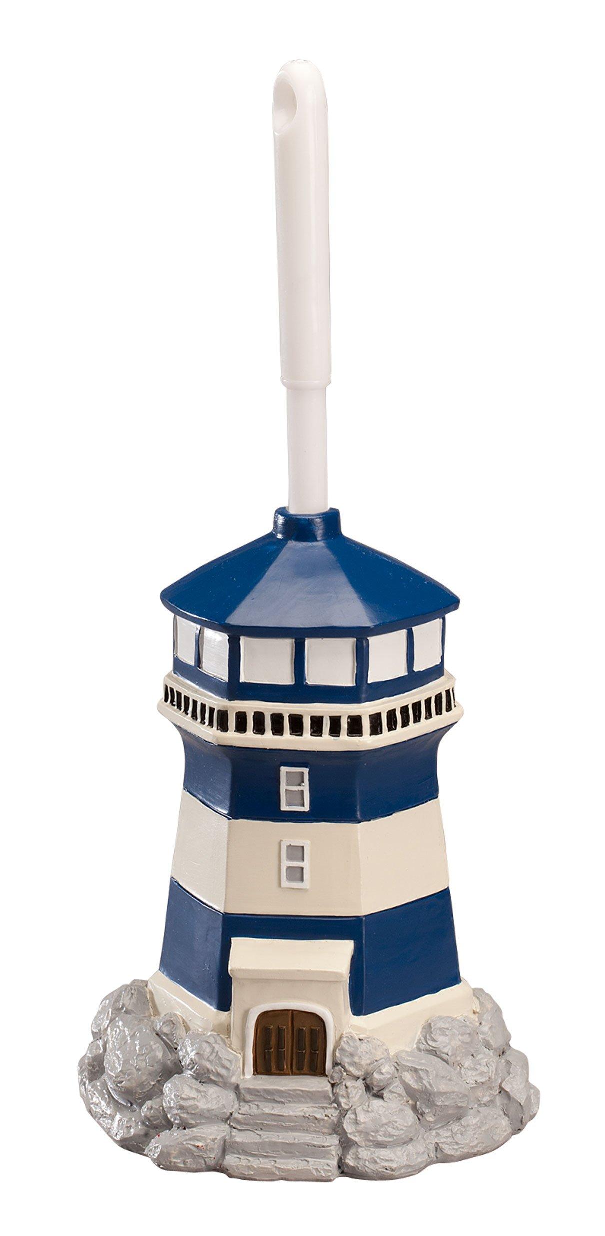 Fox Valley Traders Lighthouse Toilet Brush Holder & Brush by OakRidgeTM