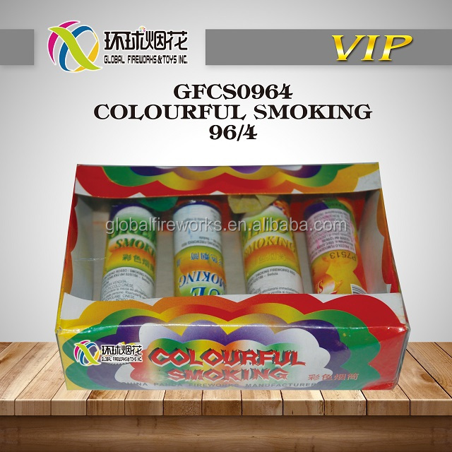 GFCS0964 COLOURFUL SMOKING MANUFACTURER HIGH QUALITY OUTDOOR JOYFUL USE 1.4G UN0336 FROM LIUYANG GLOBAL FIREWORKS