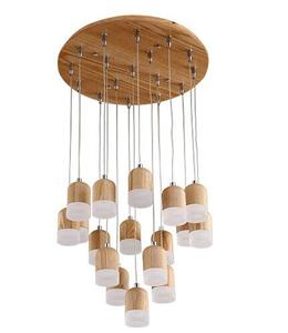 Hot sales modern decorative pendant light and lighting lamp wooden ceiling light fixture wood hanging chandelier ceiling