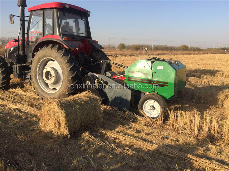 small tractor mini round hay baler machine