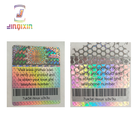 Customized color 3d hologram chrome logo label barcode sticker