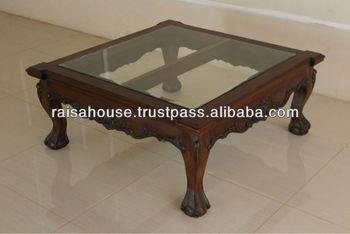 Indonesia Furniture   CHIPPENDALE COFFEE TABLE WITH Wood Top
