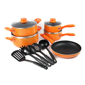 Eco-friendly 14pcs aluminium cookware set /cooking pot /fry pan with non stick