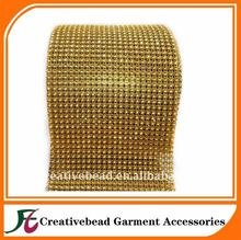 Favorites Compare 24 ROW - GOLD 4mm RHINESTONE CUT PLASTIC MESH TRIM/COSTUME/WEDDING/QUEEN/DRAG