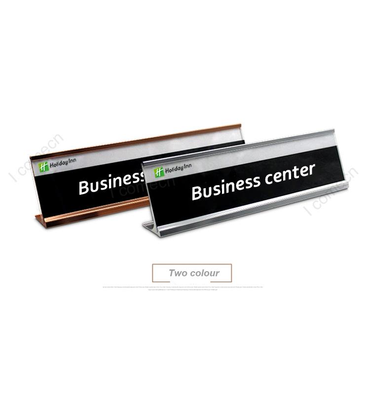 Counter Desk Label Business Card Sign Metal L Shape Frame Sign ...