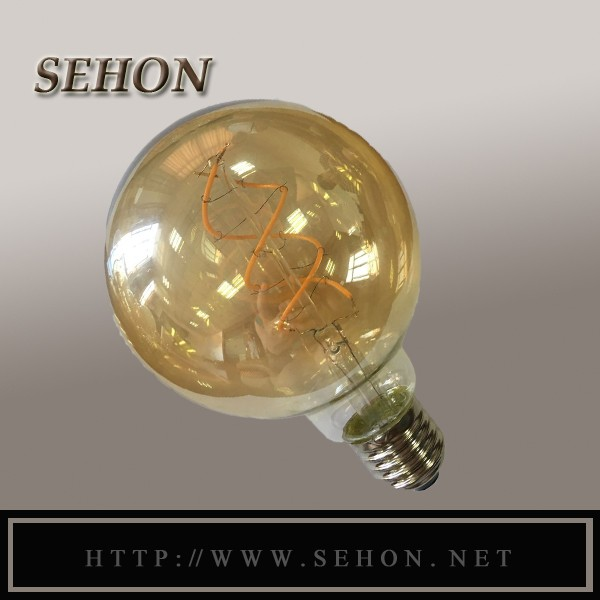High Quality 5w Led Curved Filament Bulb G125 From China Led Bulb ...