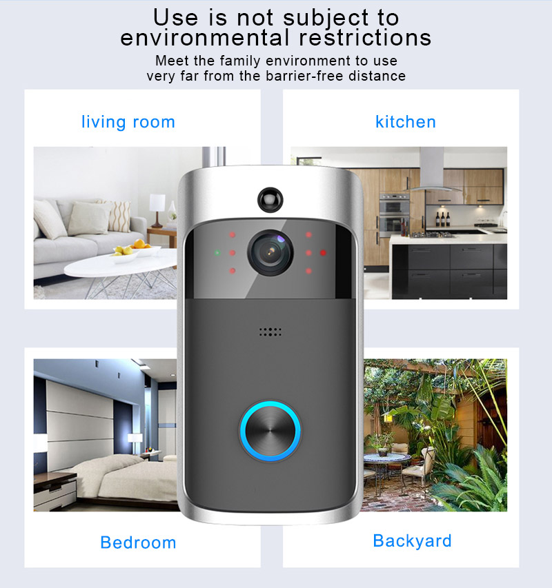 DF02 Smart Home  Doorbell Camera Night Vision Wifi Doorbell Wireless Video Phone