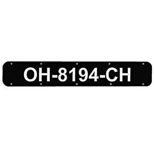 Boat Registration Number Plates (Black Plastic, 24) By Bernard Engraving Co. by BERNARD ENGRAVING