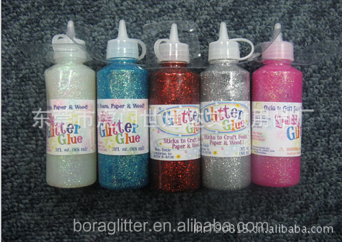 BL flat bottle glitter glue non-toxic