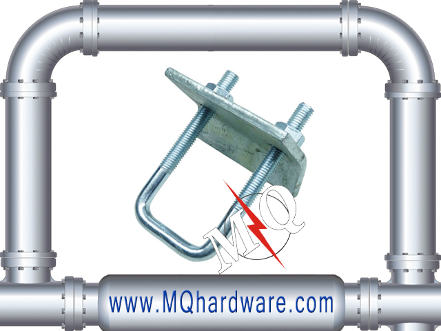 High Quality Stainless Steel U Bolt Beam Clamp With Hook