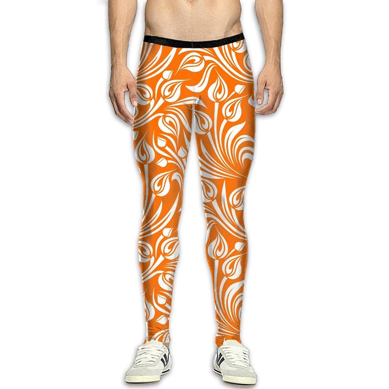 16749846bc4de Get Quotations · Virgo Flowers Floral Heat Compression Pants/Running Tights  Running Tights Men Men Side Pocket