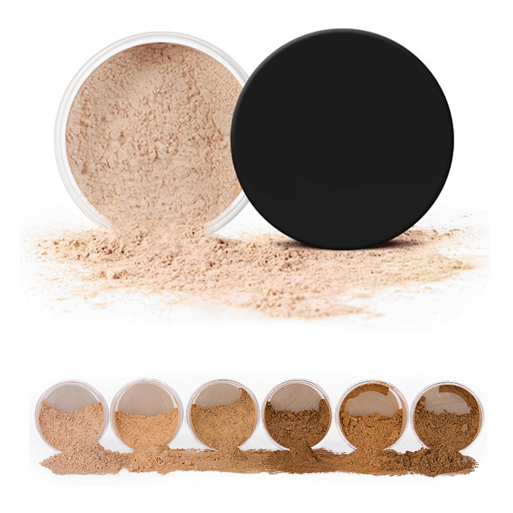 Long Lasting Oil Control 6 Colors Face Loose Powder Makeup Private label Loose Setting Powder With Sifter