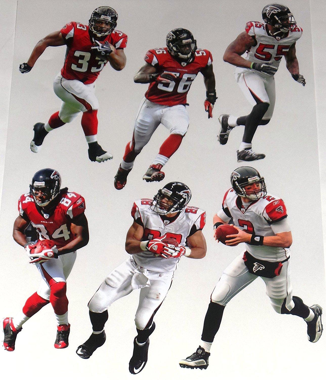 Atlanta Falcons Fathead NFL 6 Player Team Set - M. Ryan, J. Abraham, R. White, J. Jones, Turner, Gonzalez