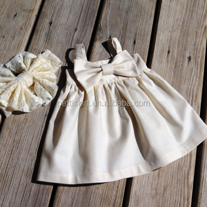 Baby dress new style ivory plain blank baby smocked dress hand made baby girl dress