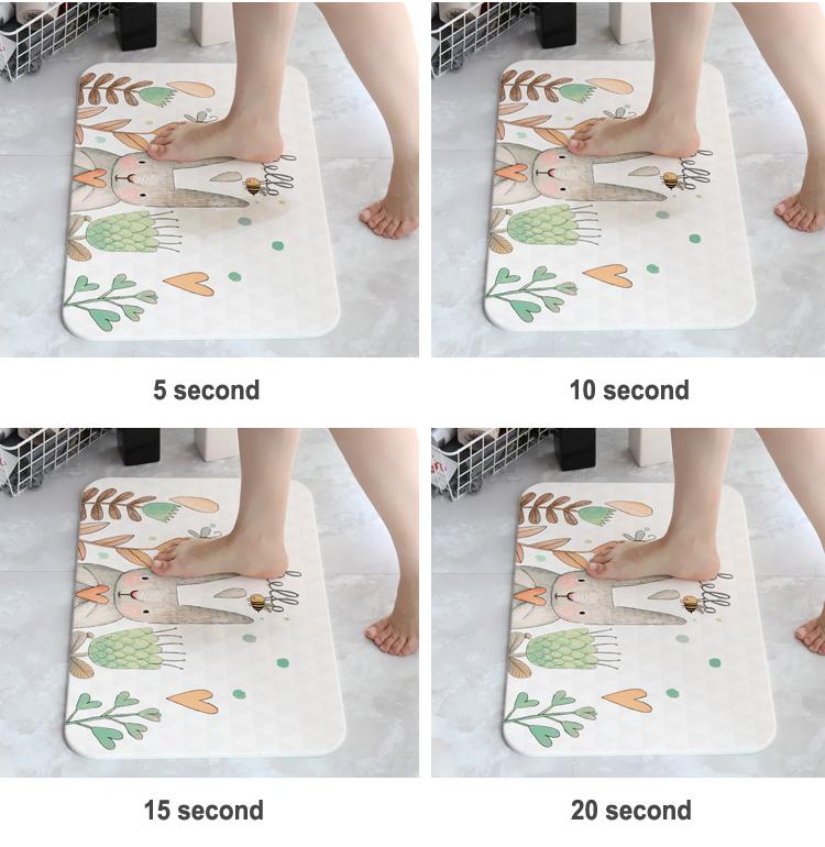 Eco-friendly durevole anti slip super assorbire acqua personalizzato su misura zerbino coperta
