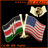 Popular new arrival customized fancy American flag lapel pin