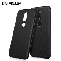 Newest design anti-skid soft shell flexible slim tpu cover for nokia x6 phone