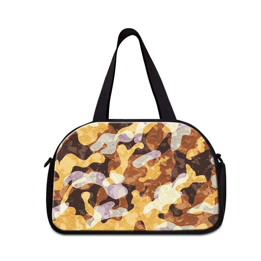 CreativeBags Camouflage Canvas Women Carry on Luggage Beach Bags Girls Duffel Bags Traveling Tote Hikings Camps Weekend Overnight Duffle Fitness Handbag