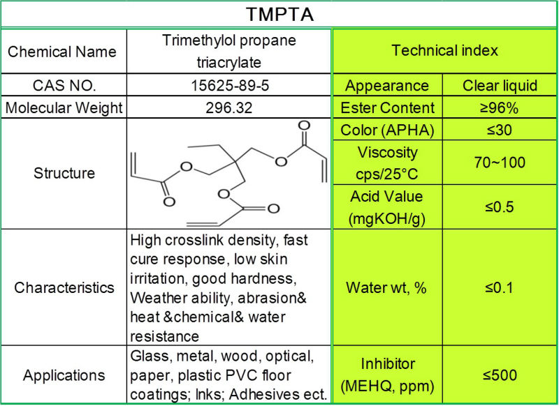 China supplier Trimethylolpropane Triacrylate (Tmpta)