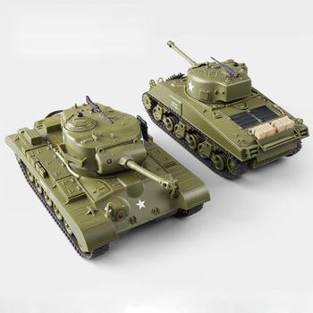 Heng long Tank 3841-10 2 4G 1/30 scale rc battle tank set of 2pcs SHERMAN  EASY EIGHT VS M26 PERSHING, View 1:30 rc tank heng long, Lehoo Toys Product