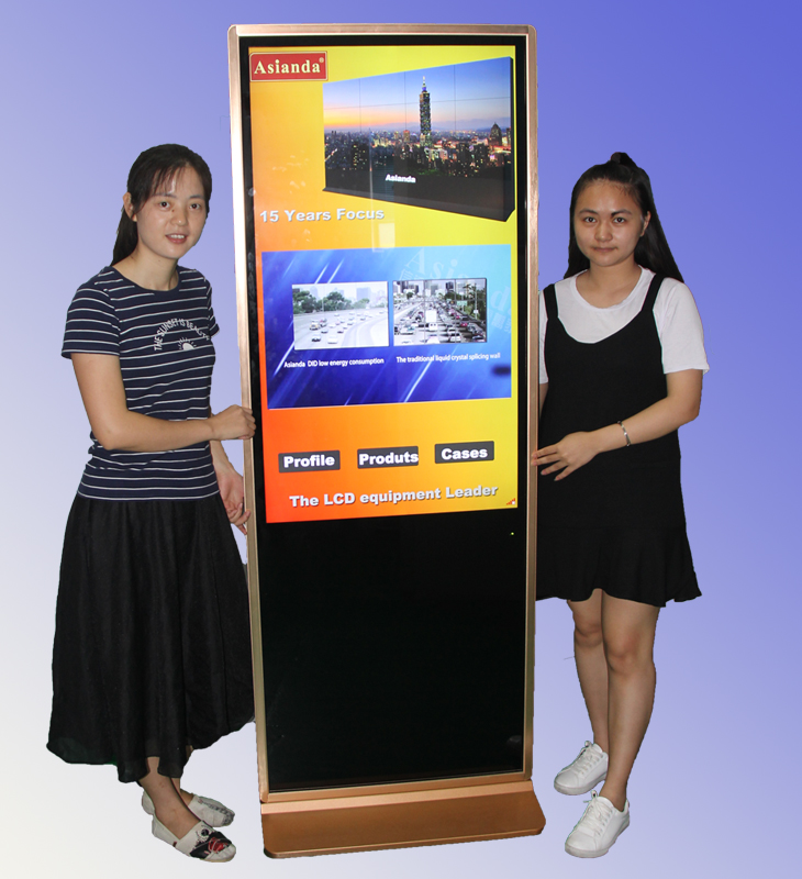 LCD Interactive touch query digital signage screen better than bamboo tooth stick