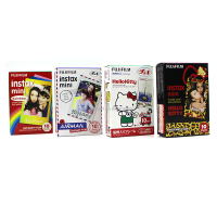 Fujifilm Instax Film for instant camera Mini 7s / 8 / 25 / 50s / 90 (Air Mail, Hello Kitty, Leopard, Rainbow)