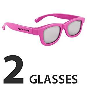 ca62661fb10af Get Quotations · Compatible (Pink) Epson ELPGS02B Passive 3D Glasses by  Quantum 3D (2 Pack)