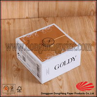 Popular design rigid cardboard candle packaging boxes