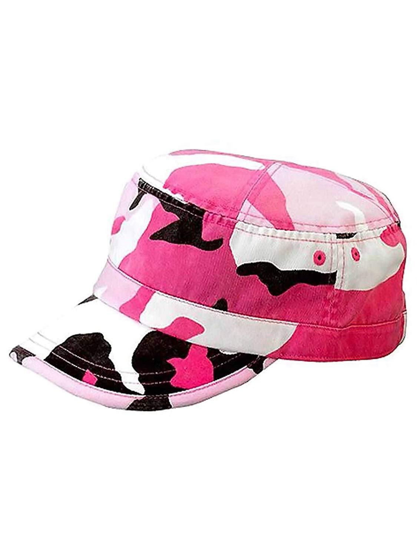 fcf32b0f9c0 Get Quotations · Luxury Divas Camouflage Print Cotton Cadet Cap Hat