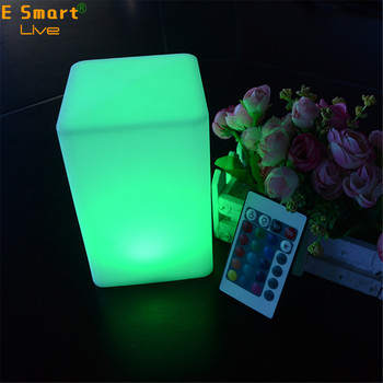 rechargeable battery powered restaurant hotel decoration Plastic led table light Lamp