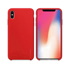 Silky Smooth Liquid Silicone Phone Case With Soft Microfiber Cushion For iPhone X/XS