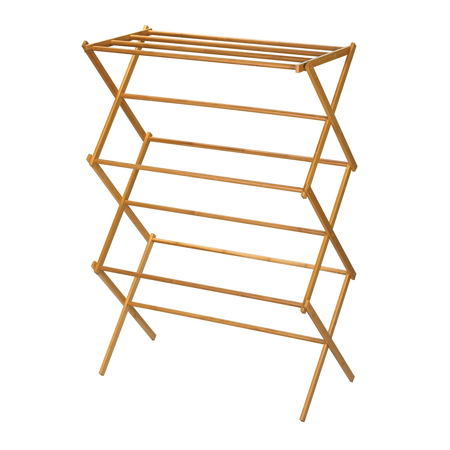 Bamboo Foldable Cloth Hanger Rack Clothes Rack Hanger For Wholesale Price