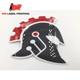 Self adhesive printing PVC PC waterproof Silkscreen custom logo sticker label