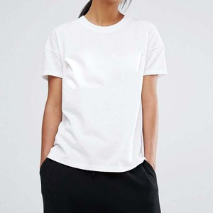 Cheap Wholesale Online Shopping India Women Apparel Custom Plain White Women T shirt