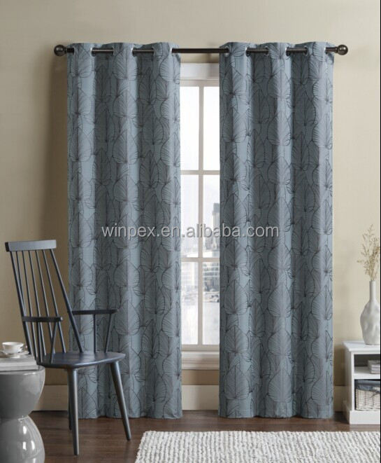 Hot sell 100% Polyester Yarn dyed Jacquard Window Curtain Panel